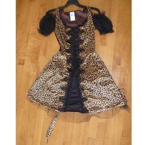 Sexy LEOPARD CAT costume Dress Size Medium 6-8 NWT